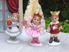 Miniature Fairy Garden Mini Village Christmas Nutcracker Clara Sugar Plum Prince