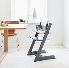 The Stokke Tripp Trapp highchair fits you from infancy to adulthood.