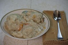 Chicken and Dumplings.  One of the favorites I like to fix.