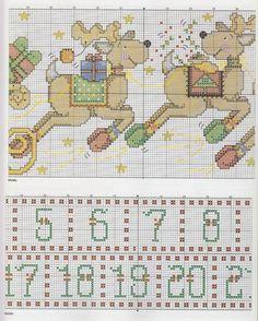PUNTO EN CRUZ NAVIDAD PAPA NOEL SANTA (pág. 5) | Aprender manualidades es facilisimo.com