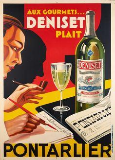 Aux gourmets Deniset plait, Anis supérieur Pontarlier ANONYME – 1930
