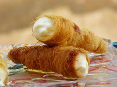 Kunafa gefüllt Schillerlocken Hörnchen Ägypten Rezept Ramadan