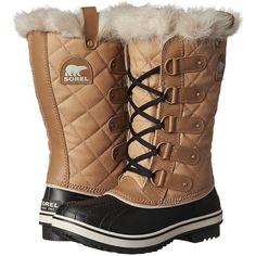 SOREL Tofino Cate (Curry/Black) Women's Cold Weather Boots ($80) ❤ liked on Polyvore featuring shoes, boots, yellow, black shoes, black leather shoes, leather boots, cuff boots and cuffed boots