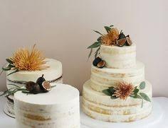 Image result for bush theme naked cake eucalyptus wattle