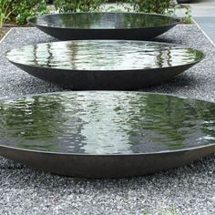 The steel water bowl is a lovely water feature and is available in a range of colours
