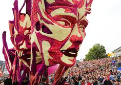 [Scale + Unity] Giant Sculptural Floats Covered in Flowers from Corso Zundert 2013 sculpture parades Netherlands flowers