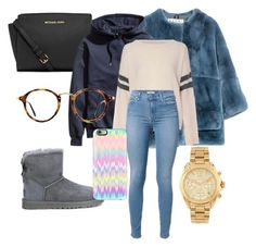 """It's freezing in New York"" by maddysr306 on Polyvore featuring interior, interiors, interior design, home, home decor, interior decorating, Marni, MICHAEL Michael Kors, H&M and Glamorous"