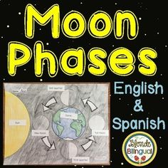 Add to your science lesson with this moon phases labeling activity can be used to help teach students about the moon phases or as an assessment. The product includes the one page worksheet to label and one page of labels, both available in English and Spanish.