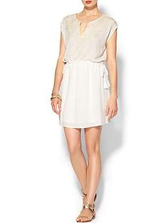 Ark & Co. Short Sleeve Embroidered Mini Dress | Piperlime