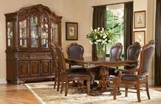 7pc Milano Double Pedestal Dining Room Set