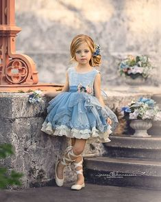 Visit Us : www. Baby Girl Party Dresses, Wedding Dresses For Girls, Little Girl Dresses, Baby Dress, Girls Dresses, Flower Girl Dresses, Girls Fashion Clothes, Kids Outfits Girls, Toddler Fashion