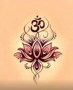 Lotus and Om -this is really pretty! I would love to get this tattoo!