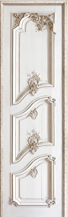 French Trompe l'oeil wallpaper by Christophe Koziel - Left panelled door                                                                                                                                                     More                                                                                                                                                     More