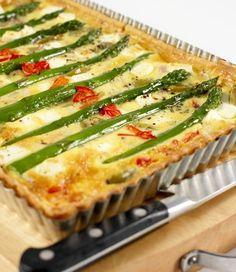 MiNDFOOD - Mediterranean Antipasto Asparagus Tart