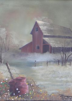 Old Red Barn Art Print by Reggie Jaggers. All prints are professionally printed, packaged, and shipped within 3 - 4 business days. Choose from multiple sizes and hundreds of frame and mat options. Red Barn Painting, Building Painting, Winter Painting, China Painting, Acrylic Paintings, Watercolor Paintings, Barn Pictures, Pictures To Paint, Barn Art