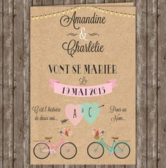 faire part invitation romantique pastel kraft champetre Faire Part Invitation, Save The Date Invitations, Save The Date Cards, Invitation Cards, Wedding Invitations, Wedding Cards, Diy Wedding, Wedding Day, Faire Part Vintage