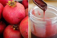 DIY Pomegranate Sauce or Molasses. I want this for summer smoothies and teas along with jams. I bet it would be really good on a pork roast or chicken as a glaze. Yum.
