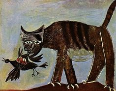Cat Catching a Bird, 1939 by Pablo Picasso