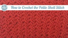 Crochet Tutorial: How to Crochet the Petite Shell Stitch. Click link to learn this stitch: http://newstitchaday.com/how-to-crochet-the-petite-shell-stitch #crochet #yarn