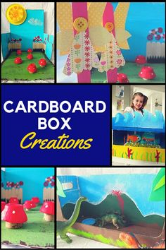 Once cardboard boxes were something to break down into the recycle bin, then, with a little imagination, they became a land of fairies, railways & dinosaurs. Fun Crafts To Do, Creative Arts And Crafts, Creative Activities, Craft Activities, Crafts For Kids, Diy Toys Doll, Crafts From Recycled Materials, Do It Yourself Organization, Egg Carton Crafts