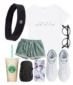 """""""Lazy school outfit"""" by jadenriley21 on Polyvore featuring MANGO, H&M, adidas, Patagonia and lululemon"""