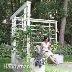 Build this simple seating/planter/arbor project to create a quiet, private space in your yard or on a deck. It provides shade and comfort as well as a welcome screen from neighbors. You can install it on an existing patio or build it on your deck.