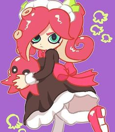 This is how I imagine Octolings look like as young girls!!!
