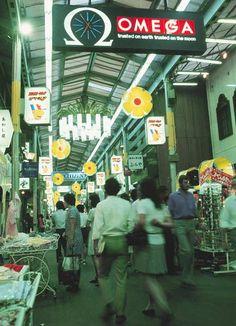 昭和48年当時の三宮センター街(神戸市)(1973年08月撮影) 【時事通信社】