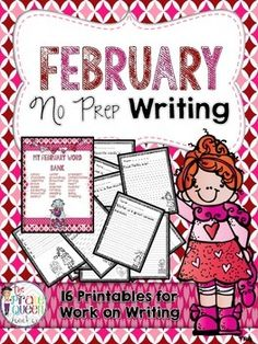 Doing the Daily Five during your language arts instruction time? Have a designated writing center in your classroom? This packet includes 16 no prep writing printables that are perfect for work on writing during the month of February. Each page includes a unique sentence starter that is sure to inspire even your most reluctant writers!