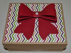 Pretty up packaging with the Gift Bow Bigz die Christies Creative Corner, Stampin Up!, seasons of Style