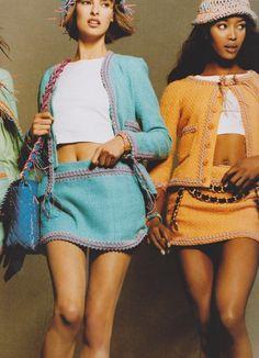 vintage Chanel.  Linda and Naomi