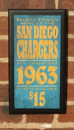 San Diego Chargers Vintage Style Wall Plaque by CrestField on Etsy, $28.00