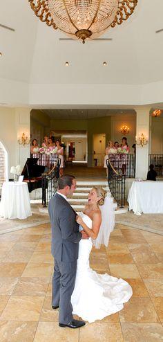 Bride & Groom's first look - this rotunda foyer is the perfect space for it! #GLGC #rotunda #foyer #firstlook #bride #groom #wedding