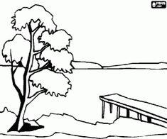 malvorlagen landschaft mit strand meer und wolken ausmalbilder zeichnen pinterest wolke. Black Bedroom Furniture Sets. Home Design Ideas