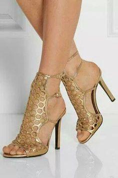 gold sandels