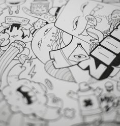 Mad Zoom by Gunnar Frigaard, via Behance Markers, Mad, Snoopy, Behance, Drawings, Fictional Characters, Sharpies, Marker, Sketch
