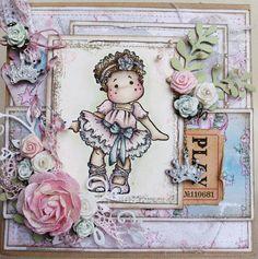 Magnolia card by Deb  Ballerina Tilda