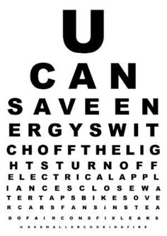 High Quality New Eye Chart Idea