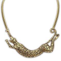 collar de leopardo de la personalidad exagerada de la vendimia de las mujeres – USD $ 12.99