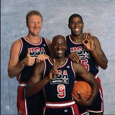 Larry Bird, Magic Johnson, Michael Jordan, Dream Team