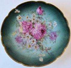 Antique Limoges 1882 1896 Plate Martial Redon by northbeachemporim