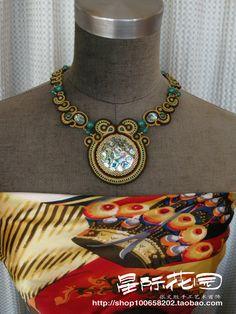 原创手工时尚艺术首饰 项链 金色菩提 (可订做)-淘宝网