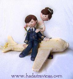 Novios personalizacos para pasteles de bodas by hadastraviesas, via Flickr