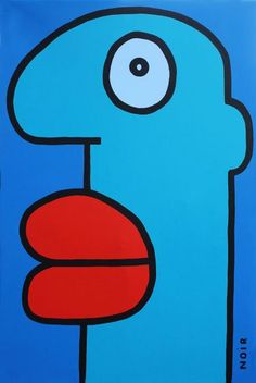 'Blue Head' by Thierry Noir.