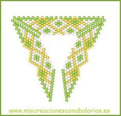 www.miscreacionesconabalorios.es: Diseños para triángulos.