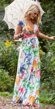 Hawaiian Breeze Maternity Maxi Dress - Maternity Wedding Dresses, Evening Wear and Party Clothes by Tiffany Rose.
