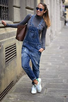 look con salopette e stan smith #ootd #outfit adidas originals - dungaree