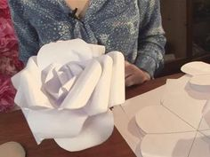DIY LARGE Paper Rose - YouTube