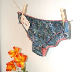 Underwear (20% off) - Peacock Knickers - Liberty Lingerie Womens Briefs Panties Wedding Bridesmaid Hen Party Gift