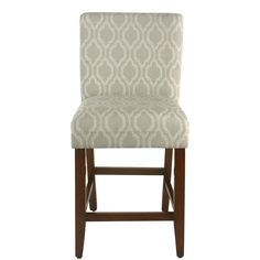 The HomePop 24 in. Classic Parsons Counter Stool comes dressed to impress in a tonal tan ogee trellis pattern. Counter Height Dining Table, Counter Stools, Bar Stools, Furniture Legs, Living Room Furniture, Foot Rest, Chair Design, Plaid Fabric, Cotton Fabric